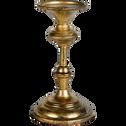 Bougeoire en fer doré H20,5cm-Baltic