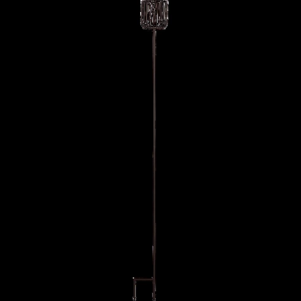 Photophores torche en métal H130 cm-Carle