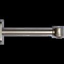 Lot de 2 supports de tringle D20mm argenté-NORMAN