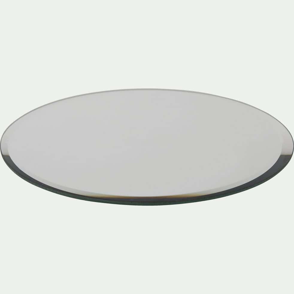 Plateau rond effet miroir - blanc D20cm-ARENAS