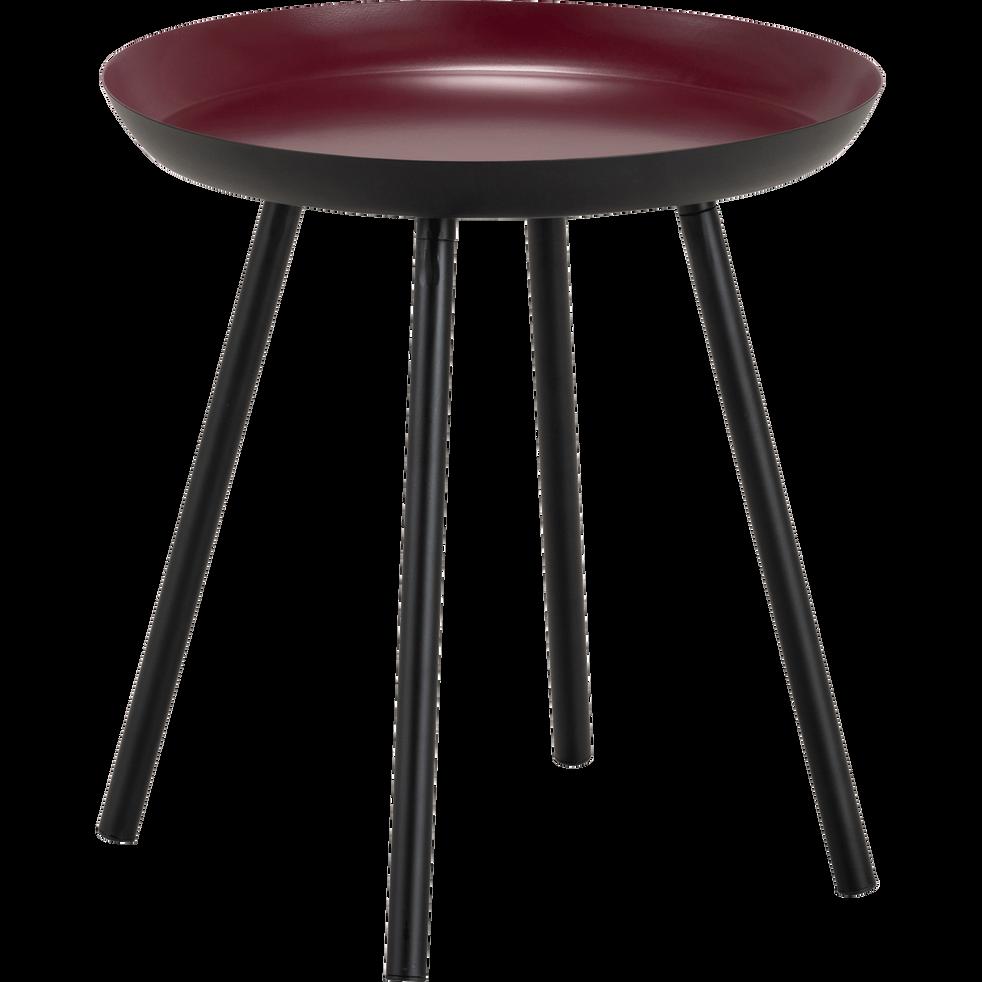 bout de canap en acier rouge sumac soufio alinea. Black Bedroom Furniture Sets. Home Design Ideas