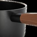 Casserole en aluminium noir D18cm (tous feux dont induction)-PADENA