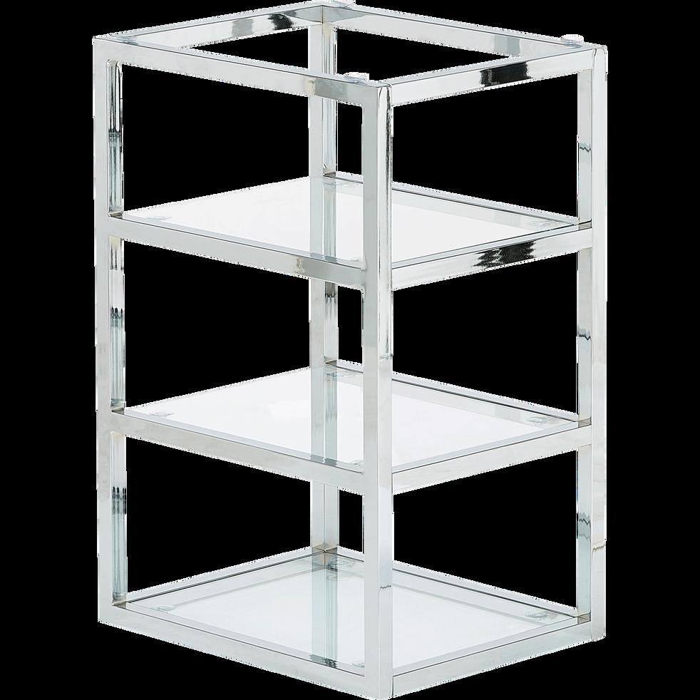 tr teau caisson de bureau avec 3 tablettes en verre armada bureaux alinea. Black Bedroom Furniture Sets. Home Design Ideas