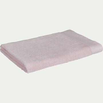 Drap de bain en coton peigné - rose simos 100x150cm-AZUR