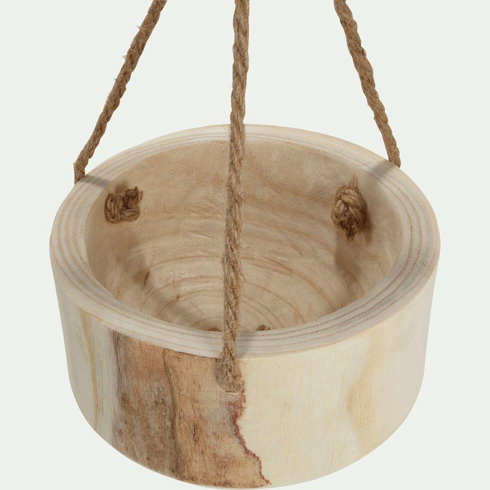 Pot à suspendre en bois de paulownia H10xD20cm-BOTA