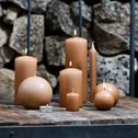 8 bougies flambeaux rose argile H18cm-HALBA