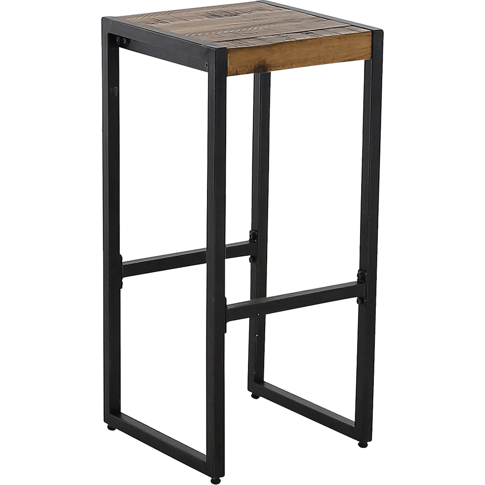 tabouret de bar bois et m tal h76cm oscar chaises et tabourets de bar alinea. Black Bedroom Furniture Sets. Home Design Ideas