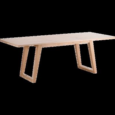 Table de repas extensible plaquée chêne - 4 à 10 places-KATELLE