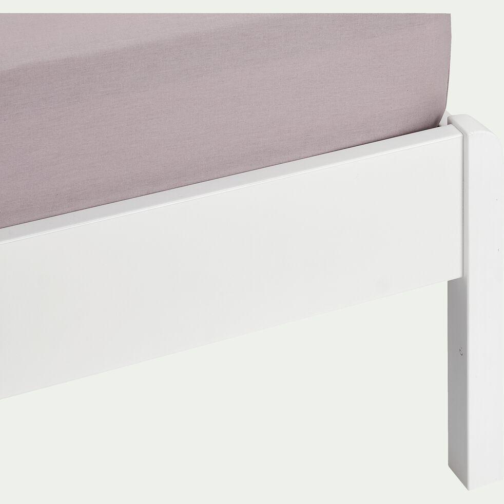 Lit en bois avec tête de lit à barreaux Blanc - 140x200 cm-JAUME