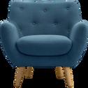 Fauteuil esprit scandinave bleu pétrole-Poppy