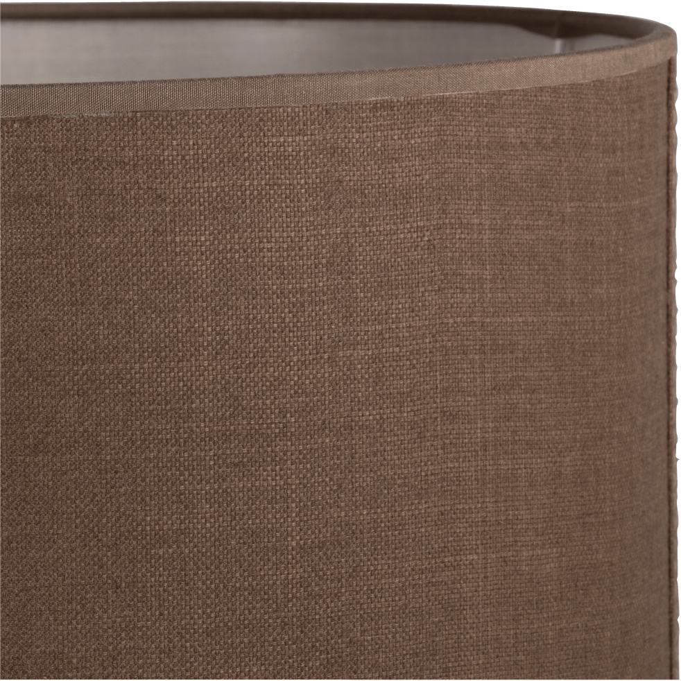 Suspension cylindrique en tissu brun D40cm-MISTRAL