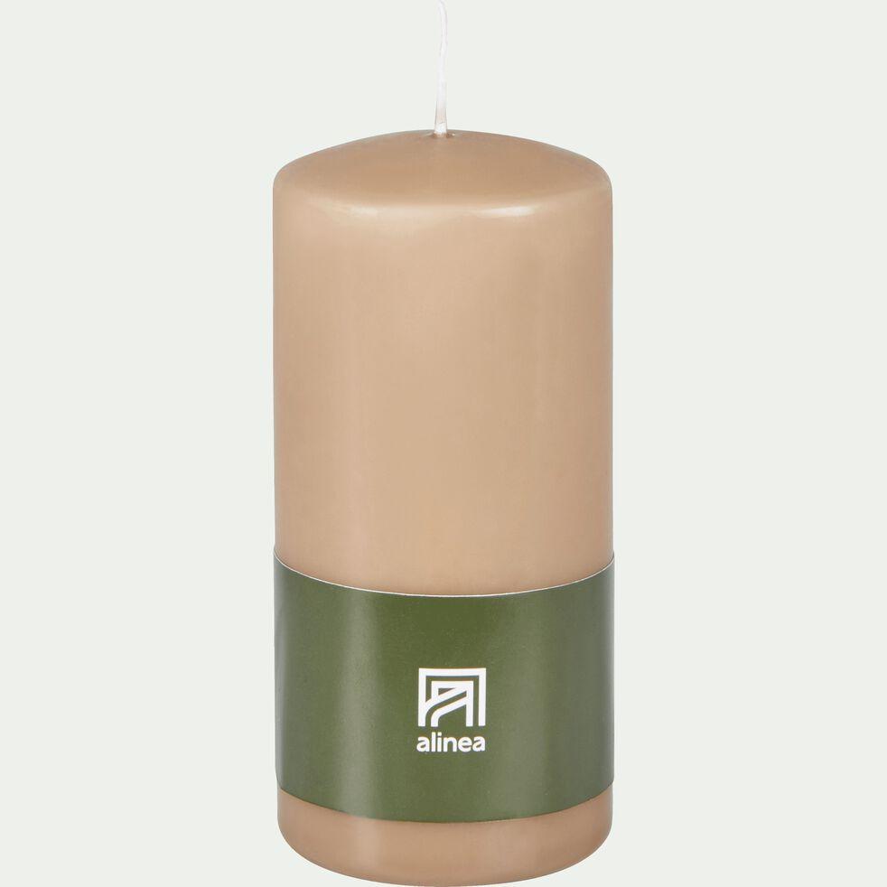 Bougie cylindrique - rose argile H14,5cm-HALBA