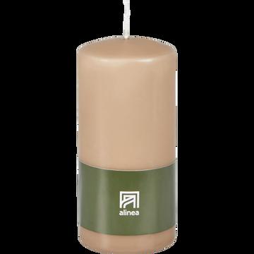 Bougie cylindrique rose argile-HALBA
