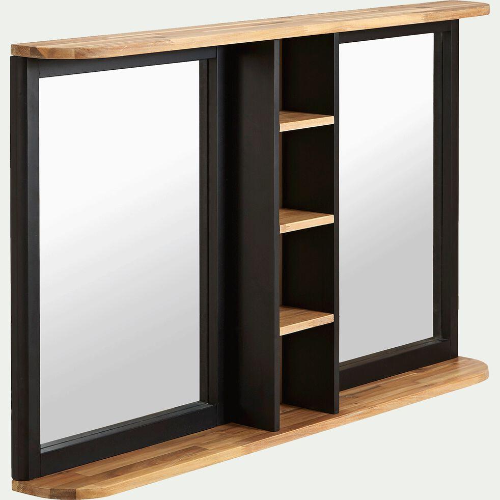 Miroir rectangulaire de salle de bains en acacia massif 120cm-PITAYA
