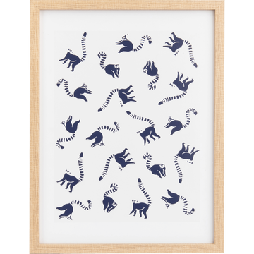 Affiche encadrée lémuriens - 30x40 cm-GABION