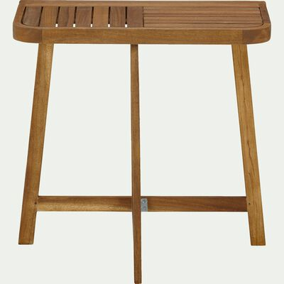 Demi table haute d'appoint pliante en acacia huilé (2 places)-Youk