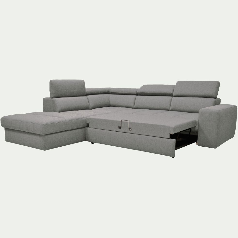 Ressort Zig Zag Canapé Avis tonin - canapé d'angle gauche panoramique convertible en tissu gris clair