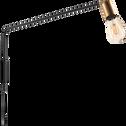 Applique orientable en métal noir 110cm-HERON