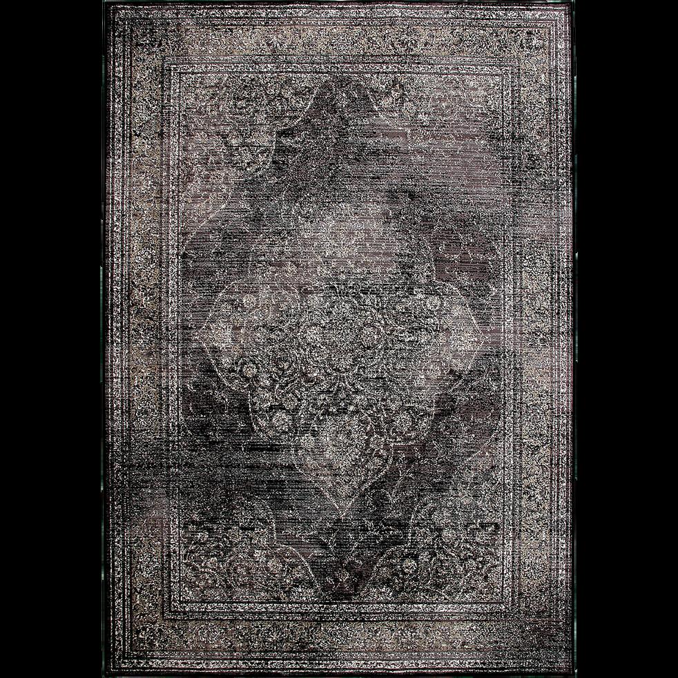 Tapis gris à motifs 160x230cm-LOTUS LOFT