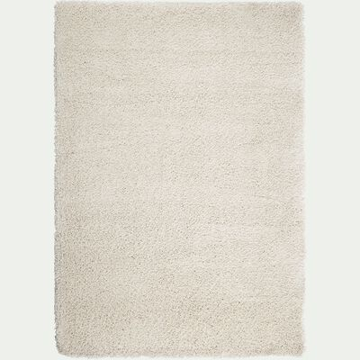 Tapis à poils longs blanc écru 200x290cm-KRIS