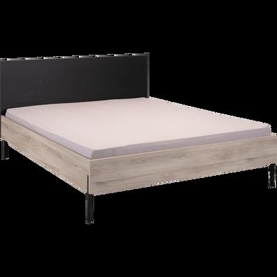Lit 2 places cadres de lit double lits 160x200 alinea - Lit en bois moderne pour adulte ...