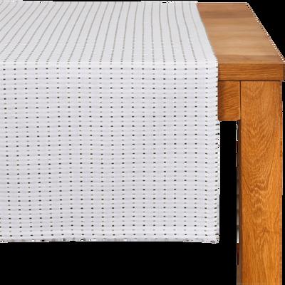 Chemin de table en coton à motifs vert olivier 50x150cm-LEA