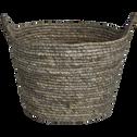 Panier déco en feuilles de maïs D27xH20cm-Milla