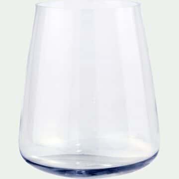 Vase obus en verre - transparent H28cm-BALAN