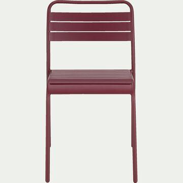 Chaise de jardin empilable en acier - rouge sumac-Souris