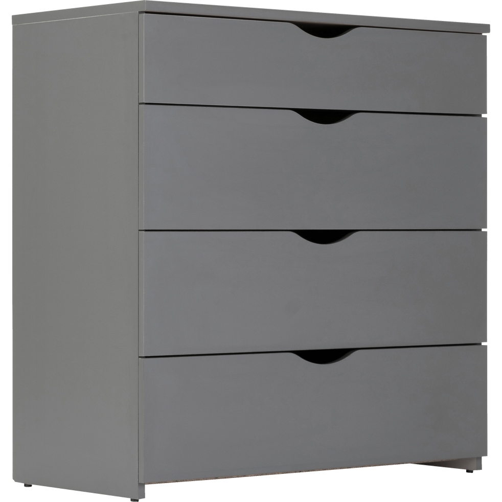 Commode 4 tiroirs Gris anthracite-COLIN