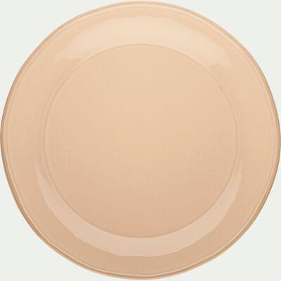Assiette à dessert en faïence rose grège D22cm-LUBERON