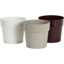 Pot blanc en plastique H14,5xD16cm-B FOR