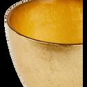 Coupelle en verre doré D10cm-ESMA