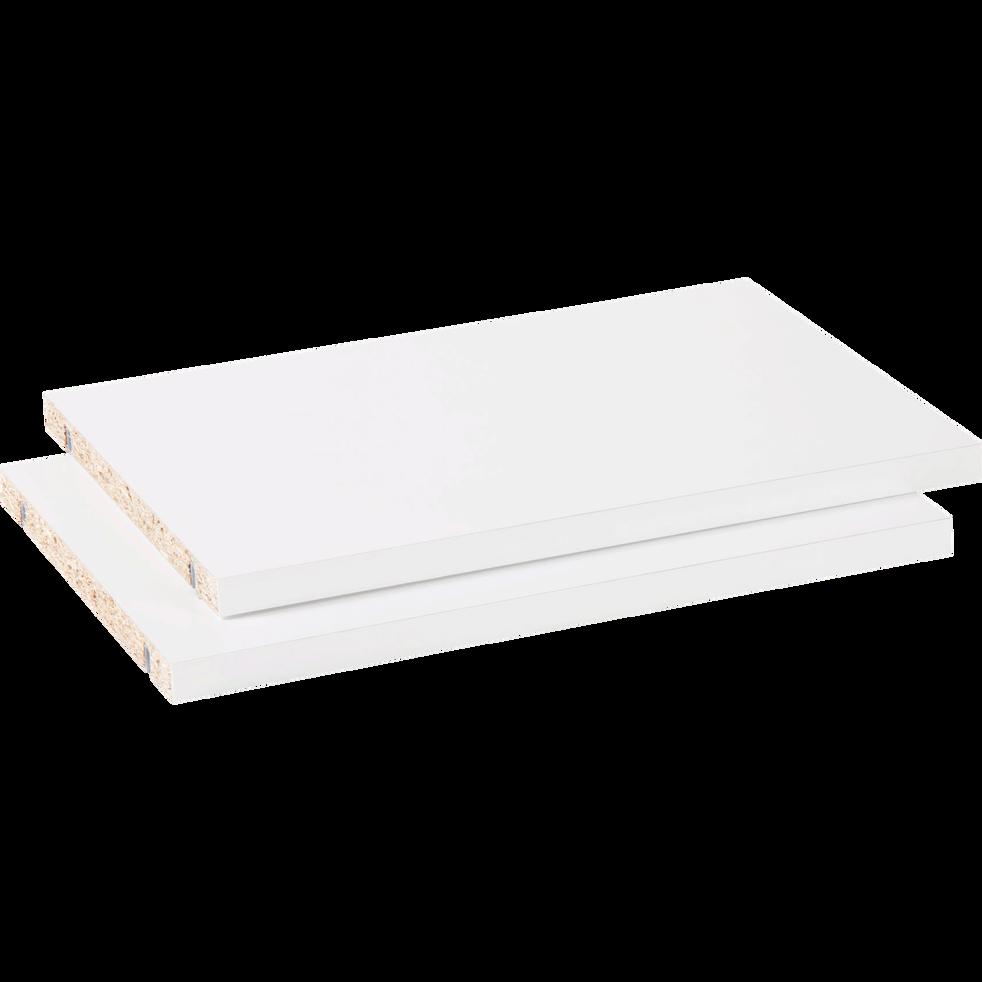 Lot de 2 tablettes coloris blanc L37cm-Biala