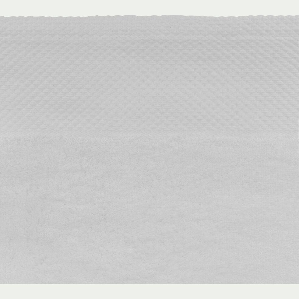Drap de bain en coton peigné - blanc capelan 100x150cm-AZUR