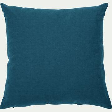 Coussin en coton - bleu figuerolles 40x40cm-CALANQUES