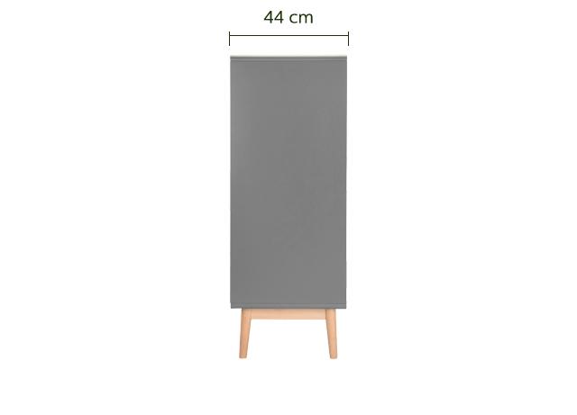 Chiffonnier 6 tiroirs bois clair et gris restanque-VERDET