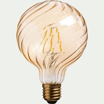 Ampoule décorative LED ambre D9,5cm culot E27-STRIPPED