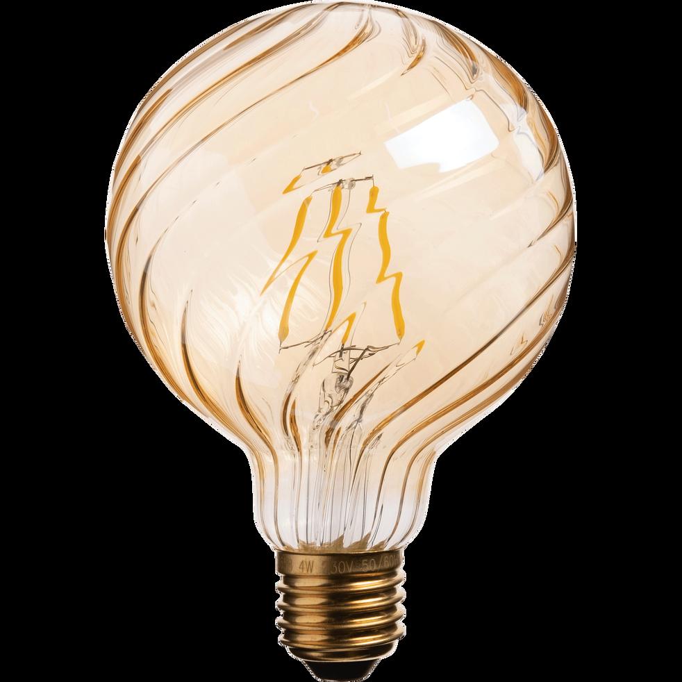 Ampoule décorative LED ambre D9,5cm culot E27-STRIPPED