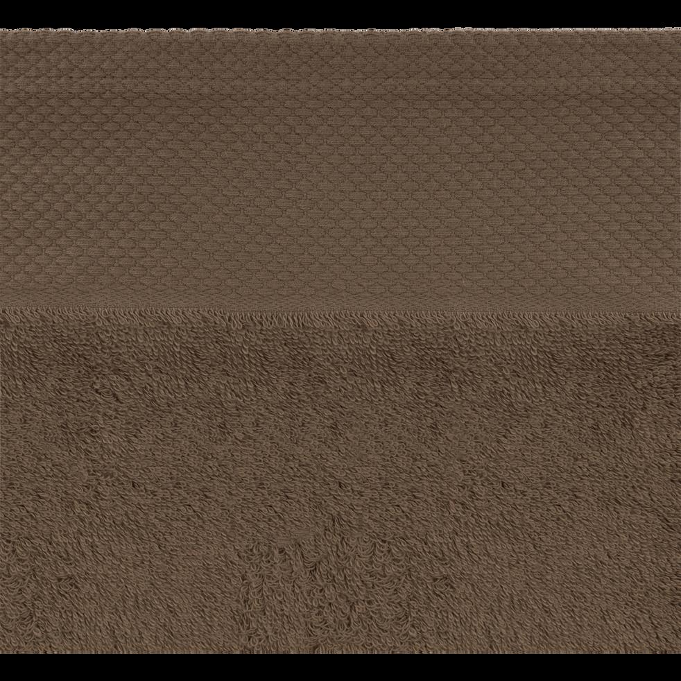 Drap de douche en coton 70x140cm brun châtaignier-AZUR