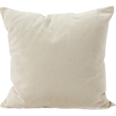 Coussin déco en coton beige 40x40cm-ALMERA