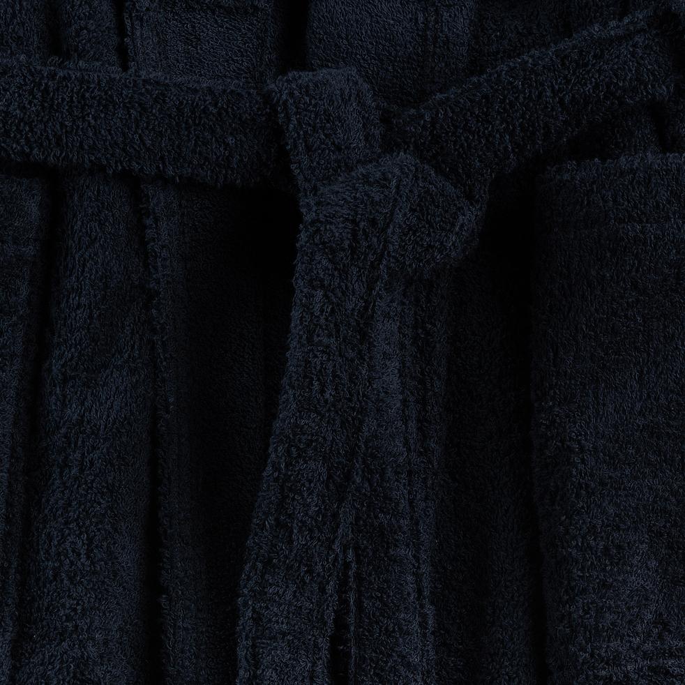 Peignoir en coton L/XL bleu calabrun-AZUR
