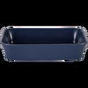 Plat à four rectangulaire en grès bleu myrte 26x18cm-ALVARA