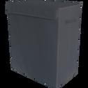 Panier à linge gris l50xH60xP30 cm-IVY