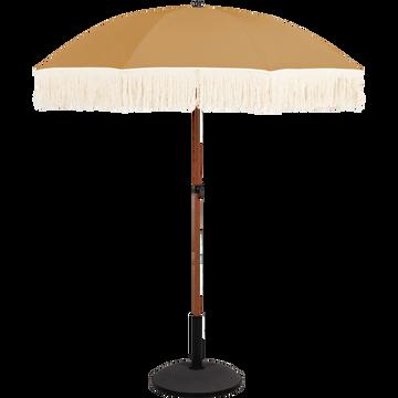 Parasol à franges beige nèfle D160cm-RICCIA
