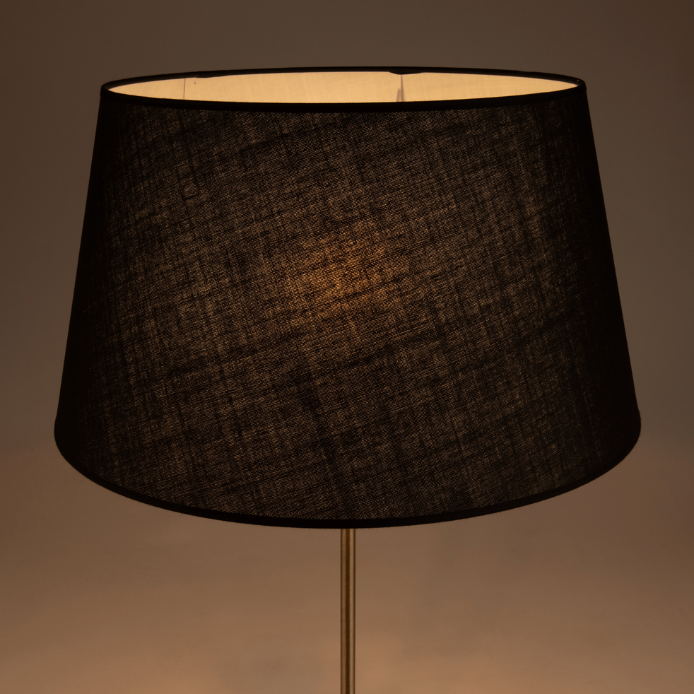 abat jour tambour noir mistral alinea. Black Bedroom Furniture Sets. Home Design Ideas