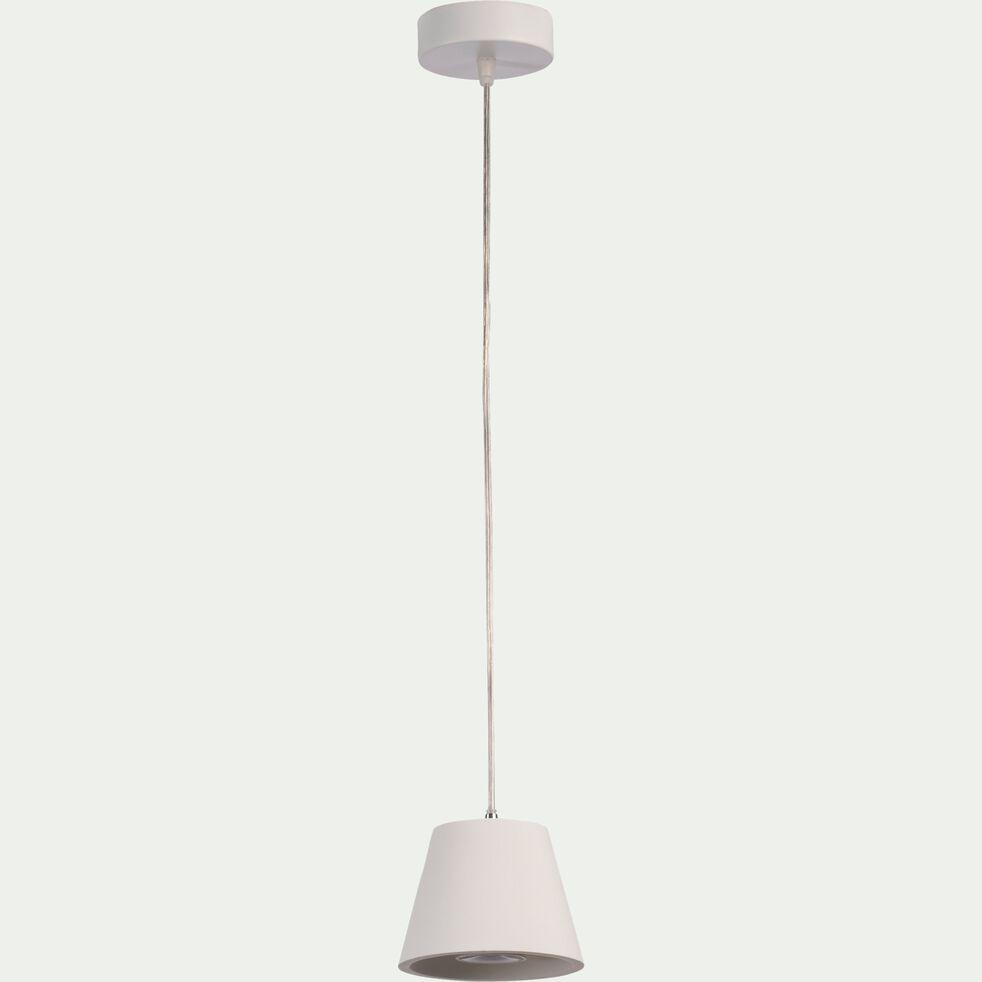 Suspension en plâtre - blanc D13cm-GIPSY