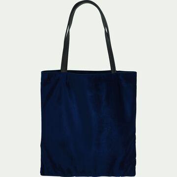 Sac en velours bleu-SANTAL