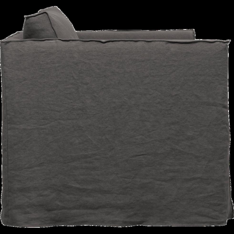 Canapé 1.5 places fixe en lin gris restanque-VENCE