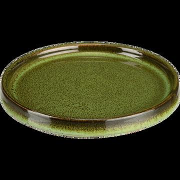 Support de bougie vert moucheté D13cm-MARAWI